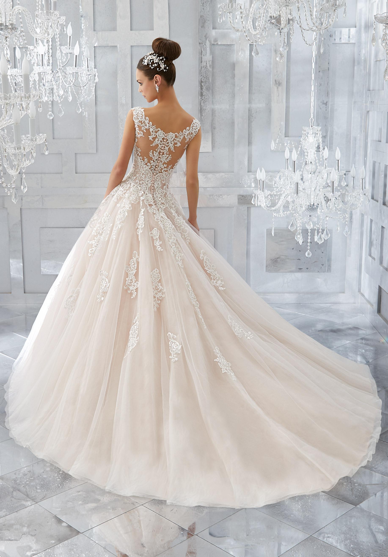Brautkleid Prinzessinnenstil mit Schleppe, Hochzeitskleider Amberg