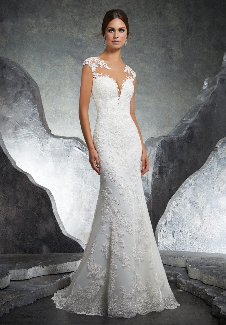 Amberg Brautkleid schmal Mode de Pol