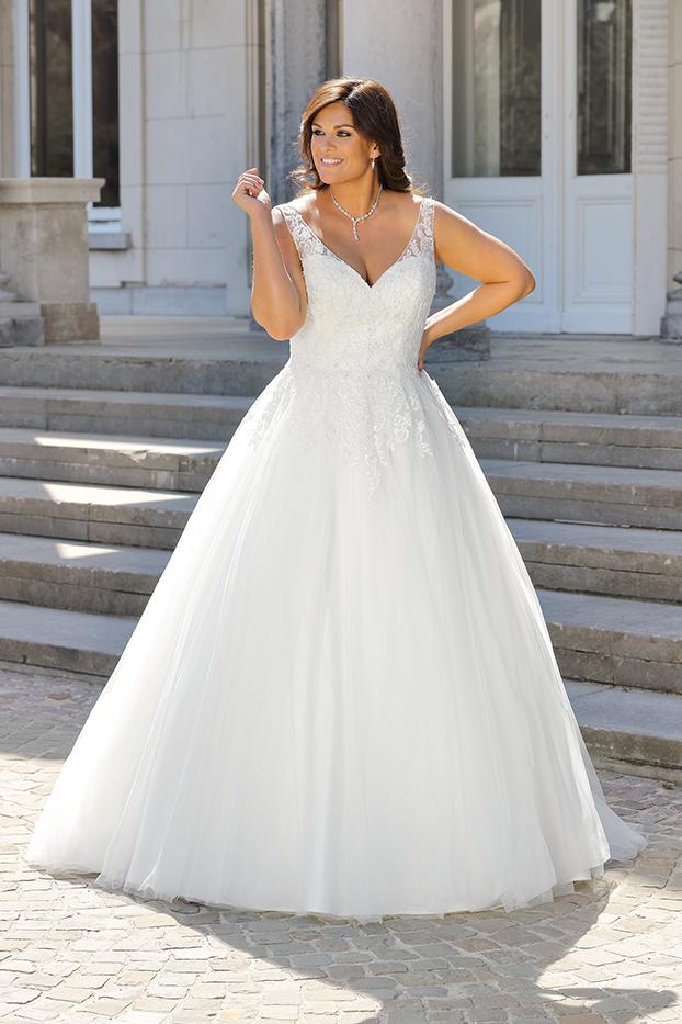 Brautkleid mit Spitze große Größe